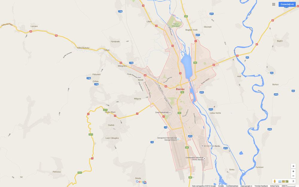 Distante rutiere intre Bacau si alte orase din Romania